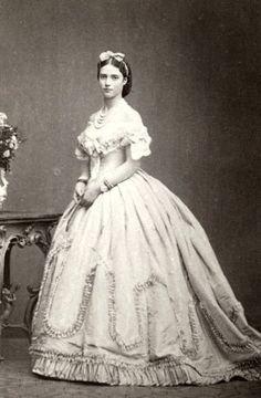 Princess Dagmar of Denmark, later Tsarina Maria Fyodorovna of Russia. 1860s,