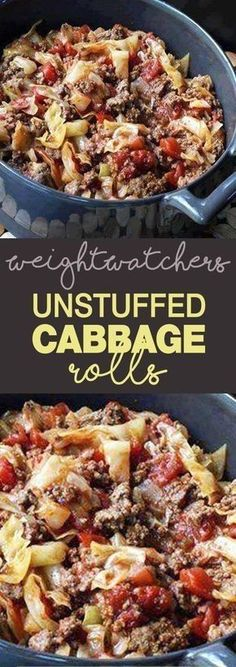 Weight Watcher's Unstuffed Cabbage Rolls!!! - 22 Recipe
