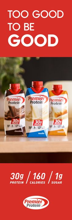 30 grams of protein, 160 calories, and just 1 gram of sugar Source by PremierProtein Skinny Recipes, Ww Recipes, Clean Recipes, Low Carb Recipes, Recipies, 30 Grams Of Protein, Healthy Snacks, Healthy Eating, Atkins Diet