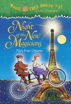 Magic Tree House #35: Night of the New Magicians (A Stepping Stone Book(TM)) by Mary Pope Osborne, http://www.amazon.com/dp/0375830367/ref=cm_sw_r_pi_dp_wtoGqb1HCA08A