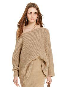 Alpaca-Blend Boatneck Sweater
