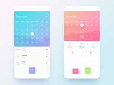 Calendar Design designed by Xer. Connect with them on Dribbble; Design Web, App Ui Design, Interface Design, Graphic Design, User Interface, Kalender Design, Mobile App Design, Mobile Ui, Colors