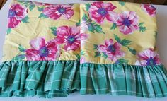 Pillow Shams Standard (2) RALPH LAUREN CHELSEA / Tropical Beauties / Great Cottage Look by SelectVintageLinens on Etsy