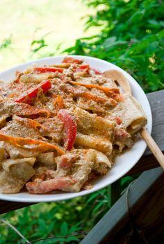 VeganSandra - tasty, cheap and easy vegan recipes by Sandra Vungi: Creamy pasta with sunflower seed cream