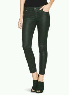 White House Black Market Women's Coated Skimmer Skinny Jeans Spruce Size 6 New #WhiteHouseBlackMarket #SlimSkinny