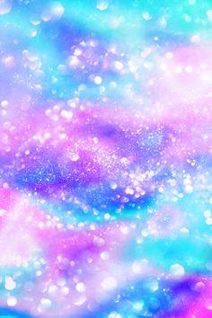 #glitter #sparkle #galaxy #shimmer #bling #purple #blue #glistening #bokeh #pastel #sky #stars #wallpaper