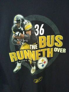 ceaf5dcaf VTG Jerome Bettis The Bus Runneth Over Pittsburgh Steelers t-shirt XXL 2XL   Reebok  GraphicTee  PittsburghSteelers