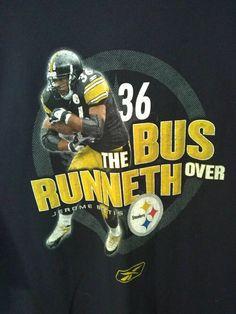 661ec36f9 VTG Jerome Bettis The Bus Runneth Over Pittsburgh Steelers t-shirt XXL 2XL   Reebok  GraphicTee  PittsburghSteelers