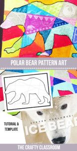 This is a dreamy way to create a beautiful Arctic sunset or Northern lights backdrop for your winter scenes. Materials: Polar Bear Template Oil Pastels Sharp Object Ice Bear: The Arctic World of Polar Bears This simple yet evocative book explores th Winter Art Projects, Animal Art Projects, Simple Art Projects, Bear Crafts, Bear Template, Kindergarten Art Projects, School Art Projects, Projects For Kids, Painting Art