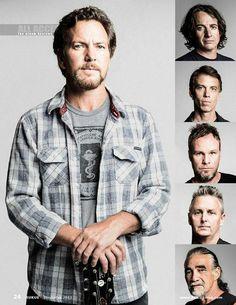 Pearl Jam,. Eddie, 49. Stone, 48. Matt, 51. Jeff, 51. Mike, 48. Boom, 61. THEY. LOOK. FAN. TASTIC!