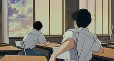 Englisch Namjin - Anime Worlds Studio Ghibli Art, Studio Ghibli Movies, Hayao Miyazaki, Totoro, Old Anime, Anime Art, Anime Boys, Aesthetic Art, Aesthetic Anime