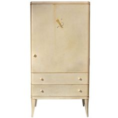 André Arbus - Unique Parchment Cabinet Ordered in 1936 | From a unique collection of antique and modern cabinets at http://www.1stdibs.com/furniture/storage-case-pieces/cabinets/