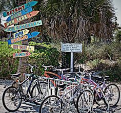 Bikes on the beach...Venice Beach, Florida
