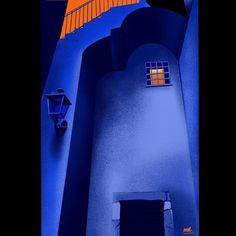 "Magdalena Ròżańska on Instagram: ""Mood 💙 🧡 ........... . . . . . . . #illustration #procreate #italy🇮🇹 #memories #summer #mood #art #composition #contrast #blue #orange…"" Orange Architecture, Illustrators On Instagram, Sicily, Blue Orange, Insta Saver, Composition, Contrast, Memories, Illustrations"