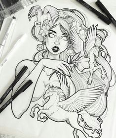 Instagram - graphicartery female illustration