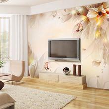 2017 novo e elegante flor floral mural wallcovering papel de parede 3d sem costura grandes para o banheiro sala quarto art decor(China (Mainland))