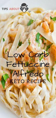 Low Carb Fettuccine Alfredo - Keto Recipe