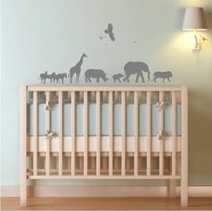 African safari... would look good in white, against blue wall, above white cot