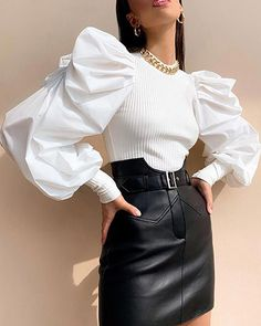 34 Women's Blouses For Women outfit fashion casualoutfit fashiontrends Source by flohmarktlimburg blouses fashion Classy Outfits, Stylish Outfits, Girly Outfits, Look Fashion, Womens Fashion, Fashion Trends, New Fashion, High Fashion Looks, Fashion 2020