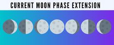 Free Moon Phase extension by Moon Organizer: your location and current date, Moon phase name and image, Moon Zodiac Sign, Moonset and moonrise time + . Moon Phases Names, Moon Information, Moon Zodiac, Chrome Extensions, Moon Calendar, Google Chrome, Zodiac Signs