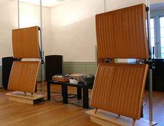 A great classic electrostatic speaker, QUAD ELS57. Vintage Electronic Speakers Audio