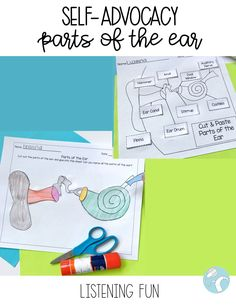 Parts of the Ear: Self Advocacy Activities for DHH Students Deaf Education Activities, School Resources, High School Life, New School Year, Speech And Language, Sign Language, Sound Science, Self Advocacy, Ear Parts