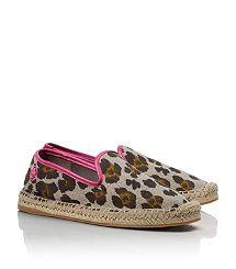 #toryburch #leopard Love!  BRENTON FLAT ESPADRILLE