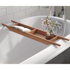Unique Bargains Raritan Wood Bath Caddy By Andover Mills Bathroom Caddy, Bathtub Caddy, Bathtub Tray, Bathtub Shower, Bath Tub, Bathroom Ideas, Wood Bath Tray, Bathtub Shelf, Bathtub Decor