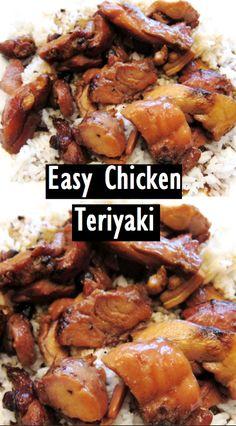 Easy Chicken Teriyaki - My list of the most healthy food recipes Chicken Teryaki Recipe, Chicken Teriyaki Rezept, Easy Teriyaki Chicken, Easy Chicken Recipes, Chinese Food Recipes Chicken, Shrimp Recipes, Salmon Recipes, Potato Recipes, Gastronomia