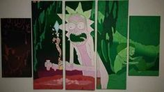 Original Artwork By Kyrie Davenport, jewellartistry. OIl Painting. Rick and Morty