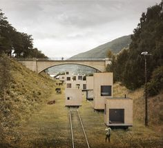Rolling Masterplan (Andalsnes, Norway) is a mobile housing complex occupying an old railway system proposed by Swedish architectural firm Jägnefält Milton