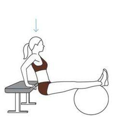 tricepts-dip trainieren mit ball