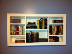 My niece's custom book shelf.  My sister built it.
