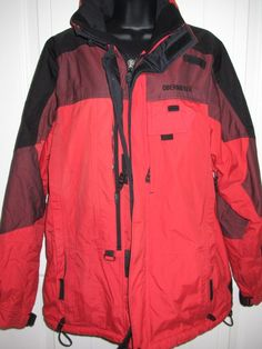 OBERMEYER Coat sz Med RED #Ski Patrol Professional Hooded Snow Shell Jacket  #Obermeyer