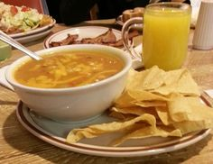 Chicken tortilla soup at #Frontier in #ABQ. www.filmandfood.com