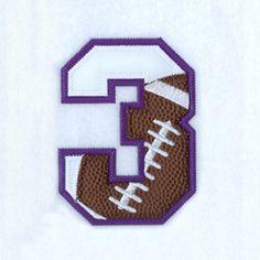 Zahl - Nummer - Number / 3 - Drei - Three (Football)
