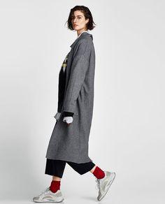 Image 3 of LONG KNIT COAT from Zara
