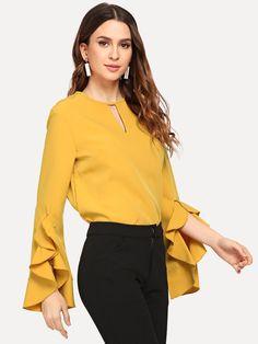 c4f4ea4cd 18 Best Fashion blouses images   Long sleeve, Neckline, Beautiful ...