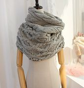 Ravelry: Sonata snood cowl scarf with cables & aran pattern by Mary Davids