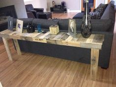 Diy Sofa Table On Pinterest Sofa Tables Diy Sofa And Console Tables