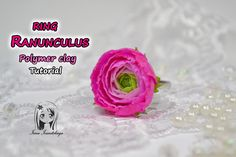 Ring Ranunculus (Asian Buttercup) ✿ Polymer clay Tutorial