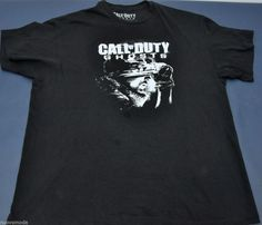 0740ea0c340 Original Activision Call of Duty GHOSTS COD Black T-Shirt Size 2XL XXL   Activision  GraphicTee