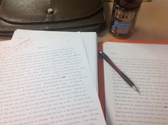 Unfortunately the necessity to go to school cut my morning writing off mid - scene, and during one of the finest crafted scenes yet of course.  I just can't seem to get my mind off of it, so, until I'm able to get home I'll be here with my tea and my red pe. scribbling random, useless edits, until I can rip this idea out of my head and plaster it onto paper.