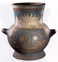 Another ceramic vessel of  Tlaloc.
