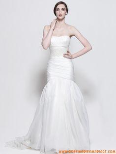 Robe de mariée sirène en blanc