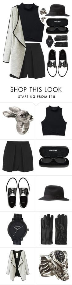 """#825"" by maartinavg ❤ liked on Polyvore featuring 21dgrs, Topshop, Chanel, ASOS, Nixon, Acne Studios, Chicnova Fashion and Elizabeth and James"