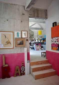 bright and bold artist's studio