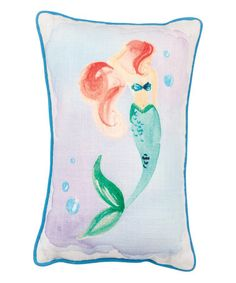 Another great find on #zulily! Blue & Coral Mermaid Stars Throw Pillow #zulilyfinds