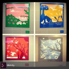 How and why: In Feb 2012 under our @we_are_frilly banner we worked with primary school kids to design plan and make some public art. We made paper-cuts with them depicting the seasonal transitions of swans.  These 4 pieces are 1m squared and consist of 4 layers of laser cut acrylic.  Each piece has a plaque with the title of the arrwork and etched signatures of the kids that designed them.  Whilst we had long been owners of laser cut jewellery we hadn't previously had the confidence to…