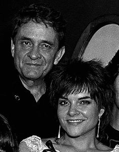 Johnny Cash and Rosanne Cash backstage after Rosanne Cash Rodney Crowell and Johnny Cash perform at The MoonShadow Saloon in Atlanta Georgia October...